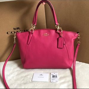 Coach small Kelsey satchel crossbody Dahlia pink